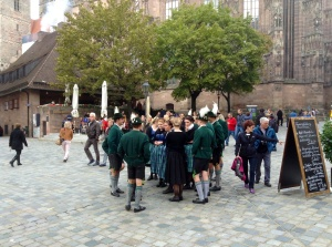 Enjoying AltstadtFest in Nuremberg, Germany