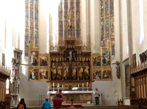 St. Jakob's Lutheran Church Wood Altar with the Sacred Blood