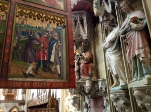 Beautiful art in St. Jakob's Lutheran Church, Rothenburg