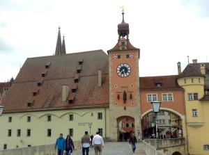 Scene from the Altstadt, a UNESCO World Heritage Site in Regensburg, Germany