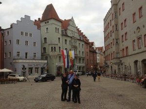 Rhonda, Allen, & Kathy in Old Town Regensburg, Germany, a UNESCO World Heritage site