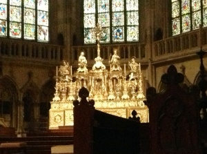 St. Peter's Cathedral Altar & Stained Glass Windows, Regensburg, Germany
