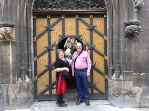 Rhonda & Allen Krahn, Marienplatz, Munich, Germany - 09/26/2013