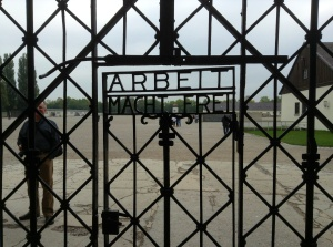 """Dachau's chilling entry: """"Work Will Set You Free"""""""
