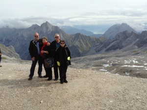 Allen & Rhonda, Wayne & Kathy with a view from the Zugspitze