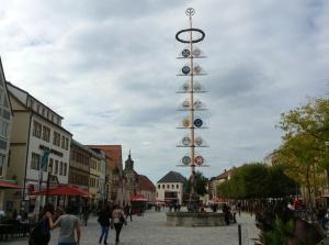 Maypole in Bayreuth, Germany
