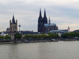 View from Rhine River Promenade