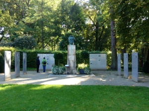 Bust of Wagner in Garden of Festspielhaus, Bayreuth, Germany