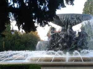 A fountain in Dresden's Neumarkt