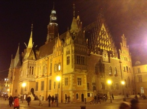 Town Hall in Old Town Wroclaw, Poland