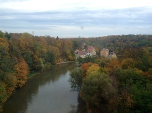 Autumn scenery on the train ride between Dresden and Wroclaw/Breslau,  October 15, 2013