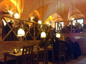 Traditional Polish restaurant in Wroclaw, Poland, which served pierogi and other traditional fare