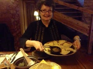 Pierogi lunch Kathy and I shared in Wroclaw, Poland