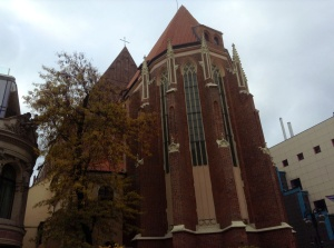 One of Wroclaw's churches