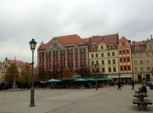 Street scene in Wroclaw, Poland's Old Town