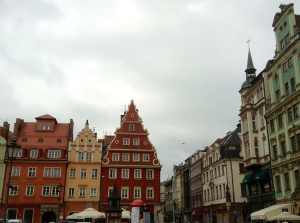 Old Town street scene in Wroclaw, Poland