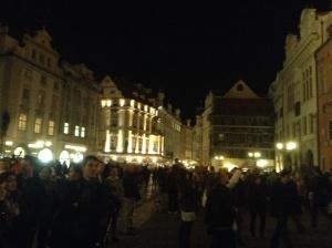 Pop concert in Wenceslas Square, Prague