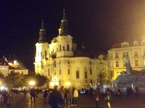 Evening in Old Town Square, Prague, Czech Republic