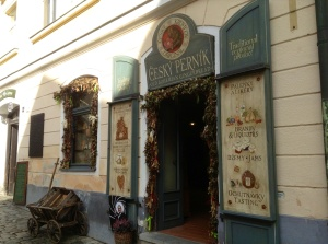 Shop in Cesky Krumlov that sells gingerbread