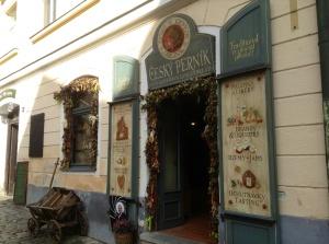 Shop in Cesky Krumlov that sells gingerbread