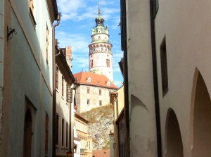 Cesky Krumlov, a view of the second largest castle in the Czech Republic