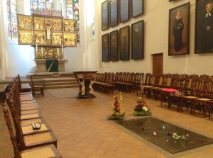 St. Thomas Lutheran Church, Leipzig, Germany - Altar & Burial Site of Johann Sebastian Bach