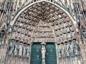 Strasbourg, France, Cathedral Door Detail