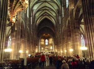 Strasbourg, France, Cathedral Interior