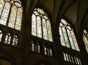 Strasbourg, France, Cathedral Stained Glass Windows