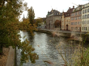 Beautiful Strasbourg, France, on the River Il