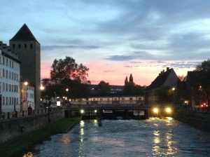 Sunset on Strasbourg's River Il
