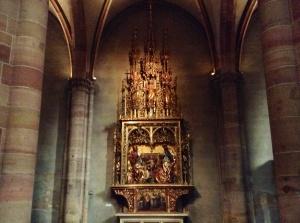 Scene in Church of St. Martin in Colmar, France