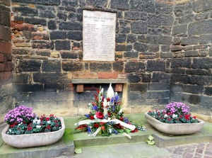 Colmar, France, war memorial to Colmar residents who lost their life in World War II