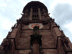 St. Martin's Church facade in Freiburg, Germany