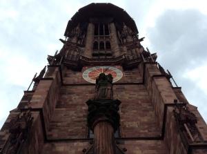 St. Martin's Church facade in Freiburg, Germany