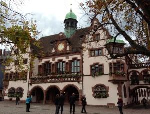 Street scene in Freiburg, Germany
