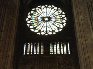 Stained glass window in Strasbourg Cathedral