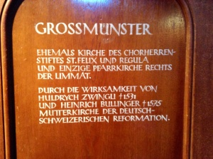 Grossmunster, Zurich, Switzerland