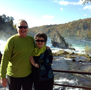 Wayne & Kathy at Rhine Falls, Switzerland