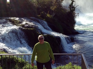 Wayne at Rhine Falls, Switzerland