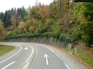 Switzerland road to Heidi Land, October 31, 2013