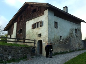 Kathy & Paula outside Heidi's home in Switzerland