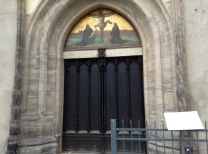 The doors of the Castle Church of Wittenberg