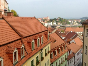Rooftops of Meissen, Germany, viewed from the castle and Meissner Dom
