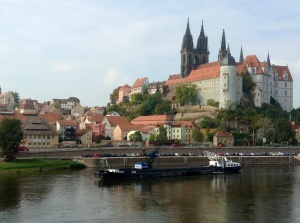 View of Meissen, Germany, from the Hauptbahnhof