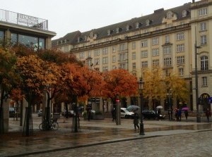 Dresden in its autumn glory on a rainy day