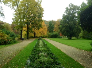 One view of the gardens surrounding the Pillnitz Castle complex