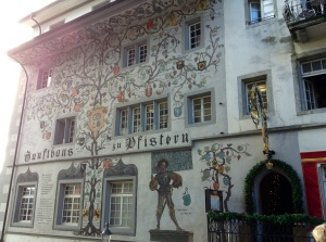 Luzern, Switzerland, painted building