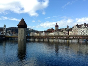 Chapel Bridge and Tower, Lucerne, Switzerland