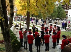 All Saints's Day Ceremony in Zermatt, Switzerland - November 1, 2013